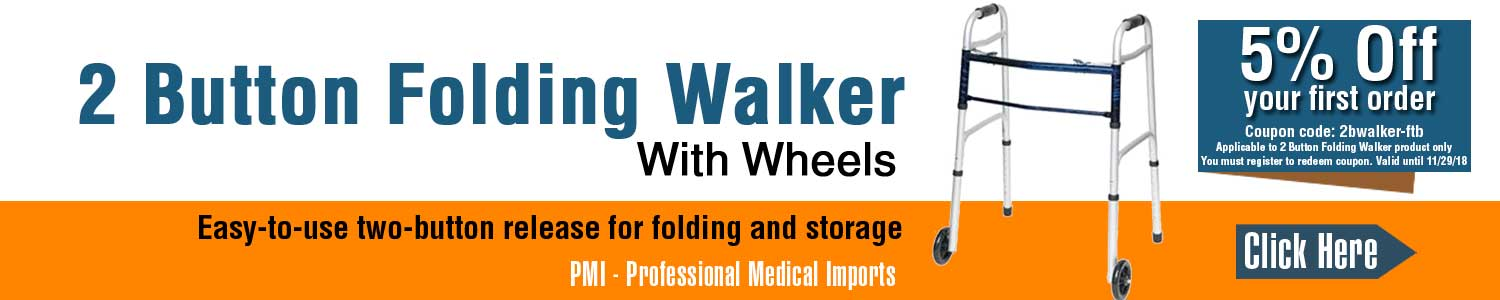 Coupon for 2 Button Folding Walker - MobilityEquip.com